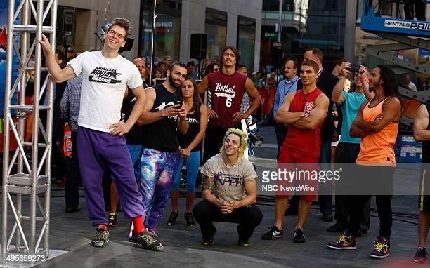 American Ninja Warrior contestants Brian Wilczewski Heriberto Rivera Kacy Catanzaro Rob Moravsky Jamie Rahn Mike Bernardo Chris Wilczewski Luciano...