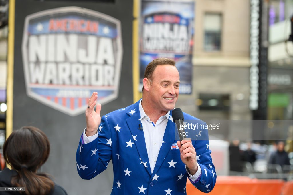 "NY: NBC's ""TODAY"" - American Ninja Warrior, Joy Bauer, Tom McKenna, Colin Quinn, Todd Emko and Piggy"
