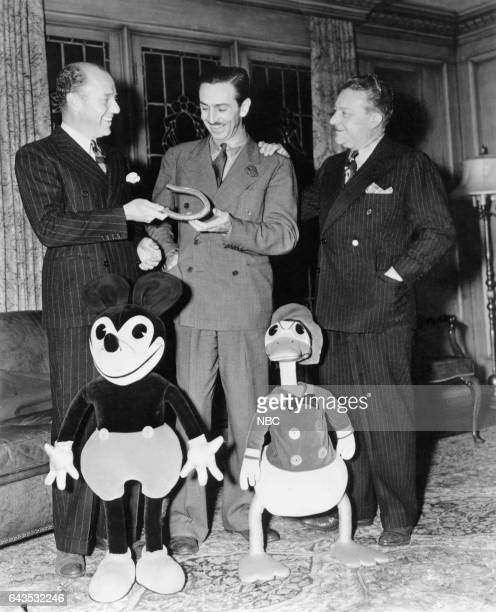 Amos 'n' Andy's Freeman Gosden Mickey Mouse Walt Disney Donald Duck Amos 'n' Andy's Charles Correll circa December 1937