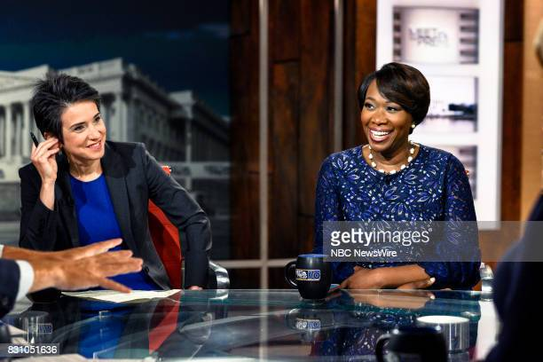 Amy Walter National Editor The Cook Political Report and Joy Reid Host MSNBCs AM Joy and MSNBC Political Analyst appear on 'Meet the Press' in...