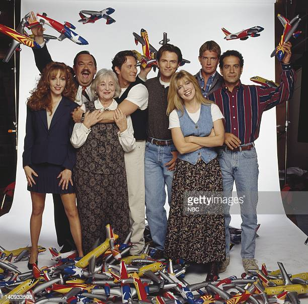 Amy Yasbeck as Casey Davenport, David Schramm as Roy Biggins, Rebecca Schull as Fay Evelyn Schlob Dumbly DeVay Cochran, Steven Weber as Brian Michael...