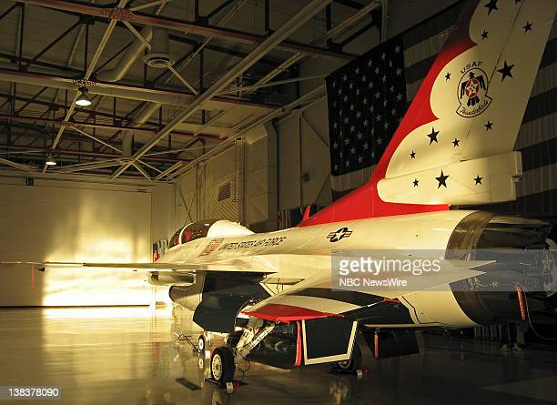An F16 Fighting Falcon jet fighter aircraft at Nellis Air Force Base in Las Vegas Nevada on November 22 2006