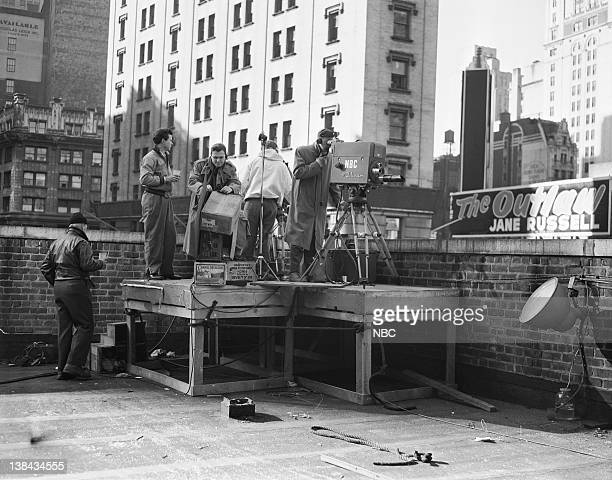 An NBC TV crew filming the 1946 Macy's Thanksgiving Day Parade
