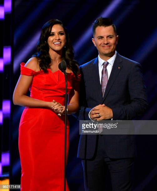Ana Jurka and Karim Mendiburu speak on stage at the Mandalay Bay Resort and Casino in Las Vegas NV on April 26 2018