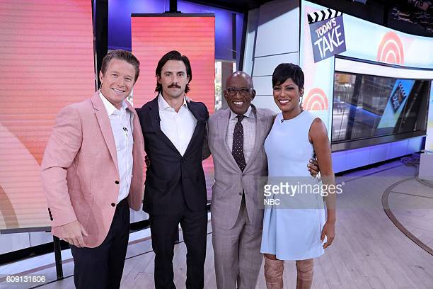 Anchor Billy Bush Milo Ventimiglia and Anchors Al Roker and Tamron Hall on Tuesday September 20 2016
