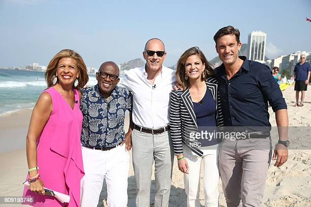 Anchors Hoda Kotb Al Roker Matt Lauer Natalie Morales and Keir Simmons appear on NBC's 'TODAY' show at the Rio Olympics on Monday August 9 2016
