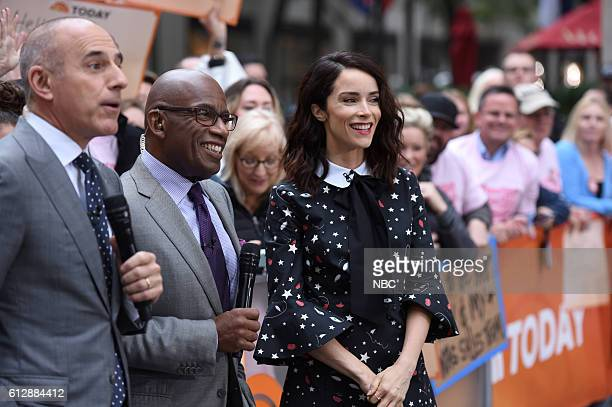 Anchors Matt Lauer and Al Roker with Abigail Spencer on Monday October 3 2016