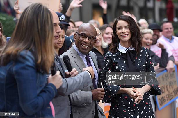 Anchors Savannah Guthrie Matt Lauer and Al Roker with Abigail Spencer on Monday October 3 2016