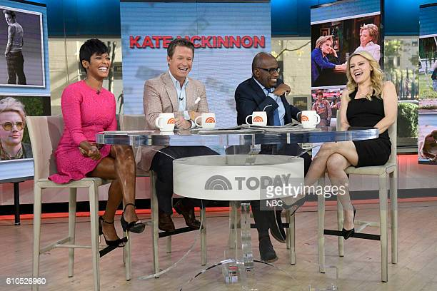 Anchors Tamron Hall Billy Bush and Al Roker with Kate McKinnon on Monday September 26 2016