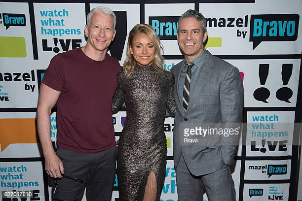 Anderson Cooper Kelly Ripa and Andy Cohen
