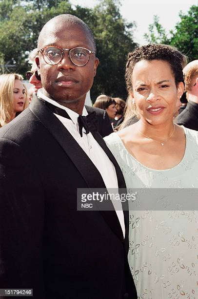 Andre Braugher wife Ami Braugher arrives at the 50th Annual Primetime Emmy Awards held at the Shrine Auditorium in Los Angeles CA on September 13 1998