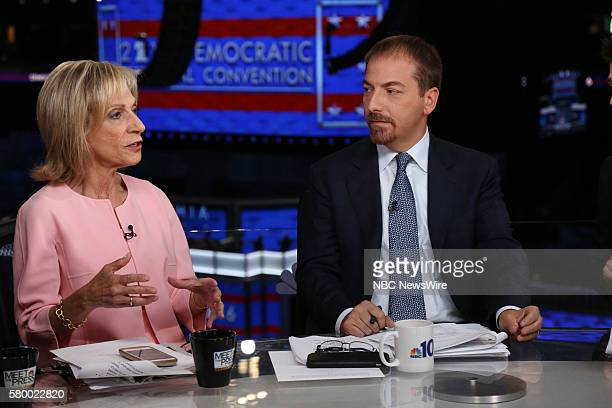 Andrea Mitchell NBC News Chief Foreign Affairs Correspondent Anchor MSNBC's 'Andrea Mitchell Reports' Moderator Chuck Todd appear on 'Meet the Press'...