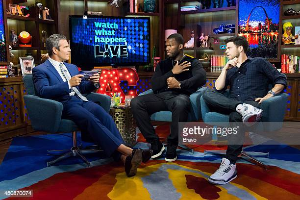 Andy Cohen 50 Cent and Jerry Ferrara