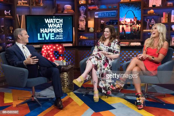 Andy Cohen Amber Tamblyn and Tinsley Mortimer