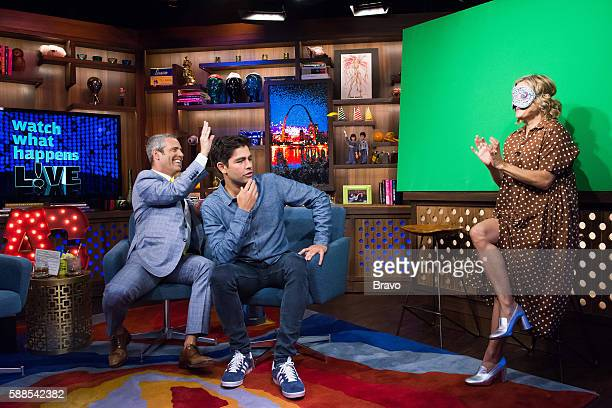 Andy Cohen Amy Sedaris and Adrian Grenier