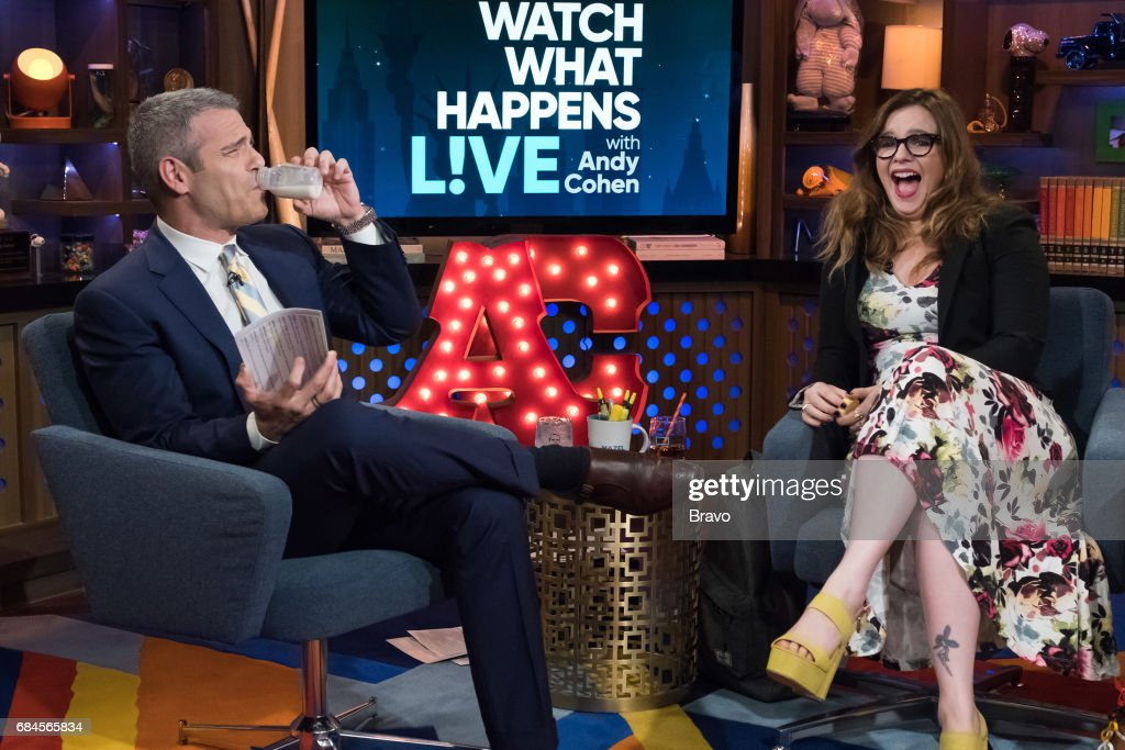 Andy Cohen and Amber Tamblyn --