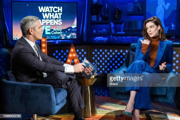 Andy Cohen and Anne Hathaway
