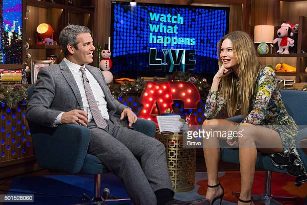 Andy Cohen and Behati Prinsloo