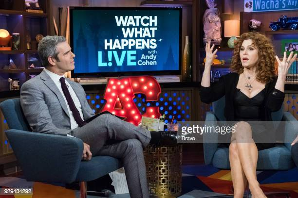 Pictured : Andy Cohen and Bernadette Peters --