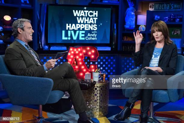 Andy Cohen and Carla Bruni