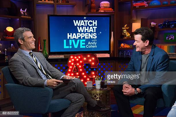 Andy Cohen and Charlie Sheen