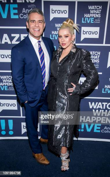 Andy Cohen and Christina Aguilera