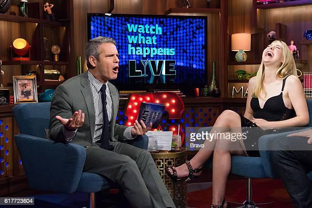 Andy Cohen and Dakota Fanning