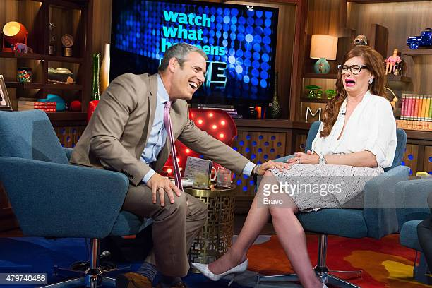 Andy Cohen and Debra Messing