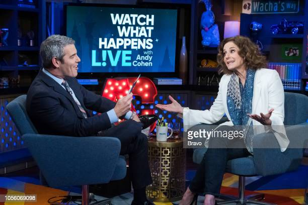 Andy Cohen and Debra Winger