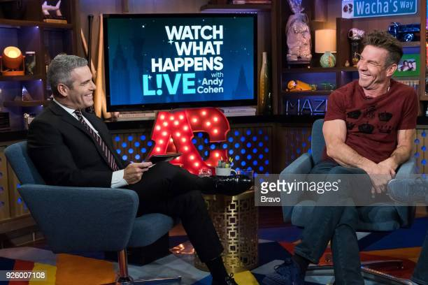 Andy Cohen and Dennis Quaid