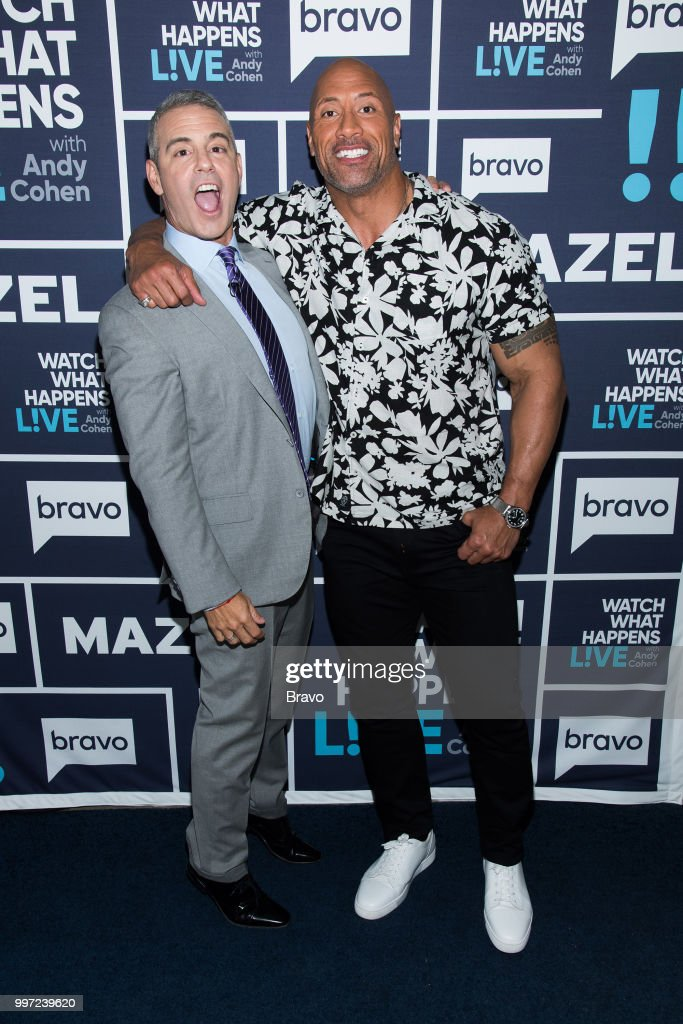 Andy Cohen and Dwayne Johnson --