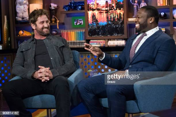 Andy Cohen and Gerard Butler