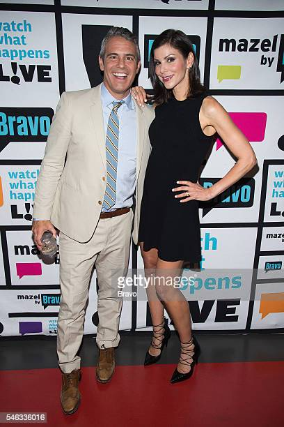 Andy Cohen and Heather Dubrow