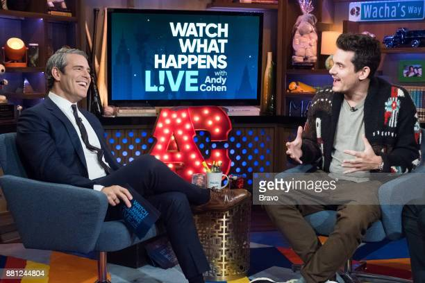 Andy Cohen and John Mayer