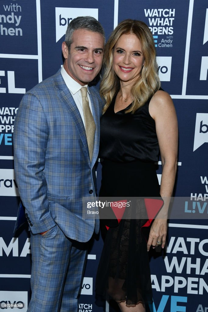 Andy Cohen and Kelly Preston --