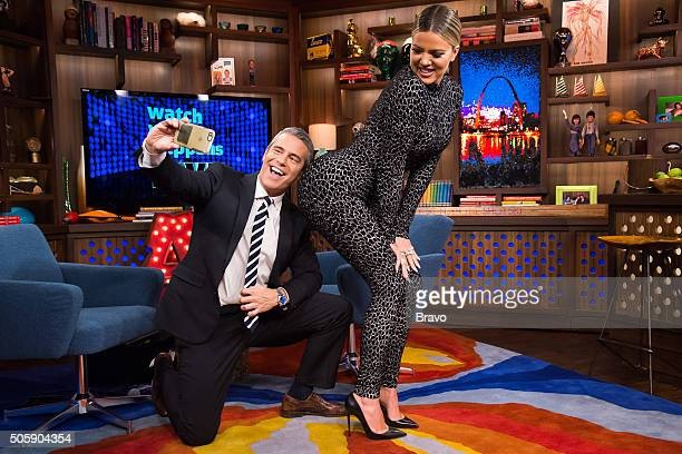 Andy Cohen and Khloe Kardashian