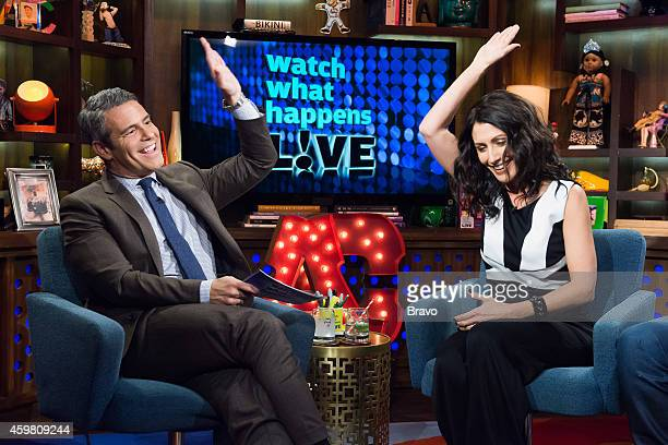 Andy Cohen and Lisa Edelstein