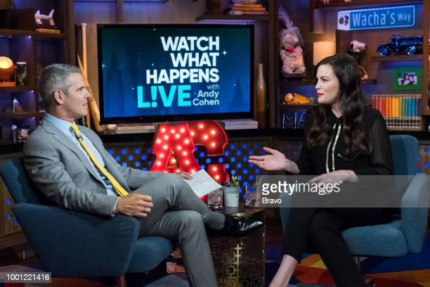 Andy Cohen and Liv Tyler