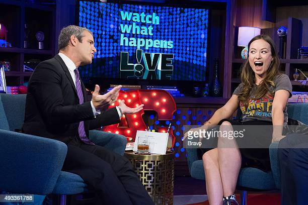 Andy Cohen and Olivia Wilde