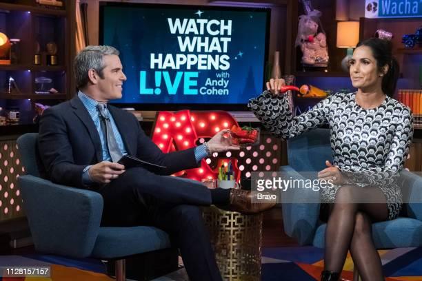 Andy Cohen and Padma Lakshmi