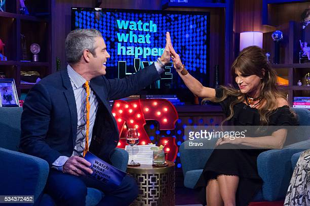 Andy Cohen and Paula Abdul