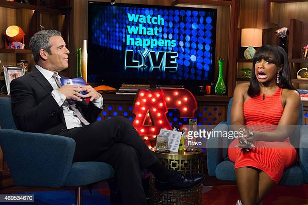 Andy Cohen and Phaedra Parks