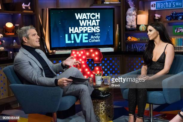 Andy Cohen and Scheana Marie