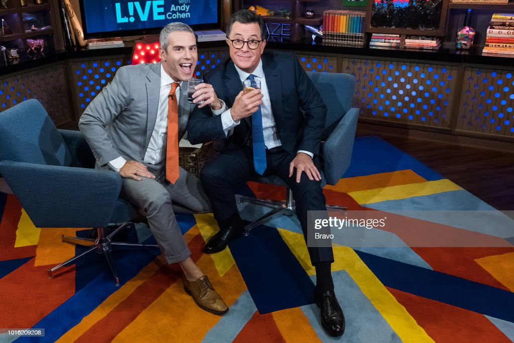 Andy Cohen and Stephen Colbert --