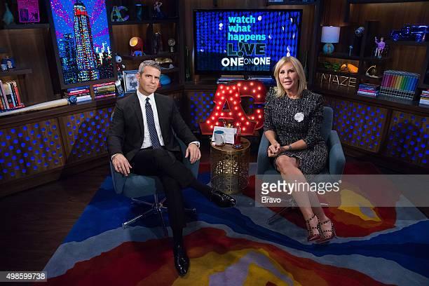 Andy Cohen and Vicki Gunvalson