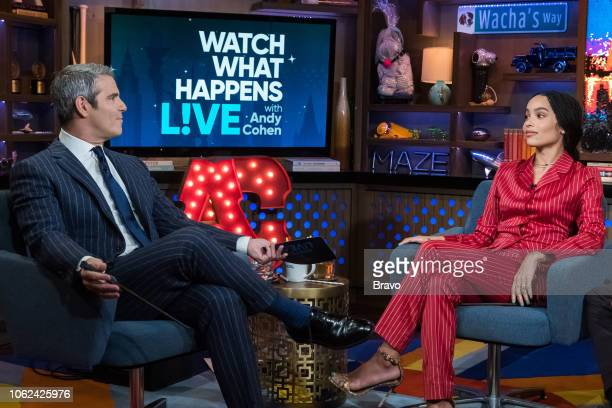 Andy Cohen and Zoe Kravitz