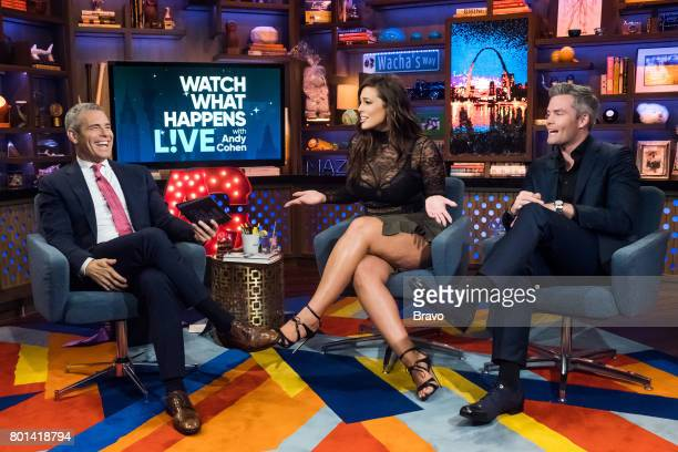 Andy Cohen Ashley Graham and Ryan Serhant