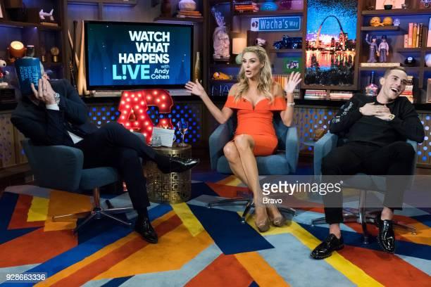 Andy Cohen Brandi Glanville and Adam Rippon