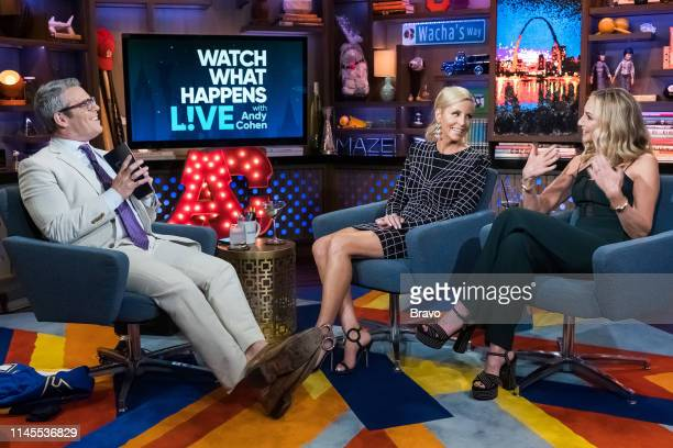 Andy Cohen Camille Grammer and Tracy Pollan