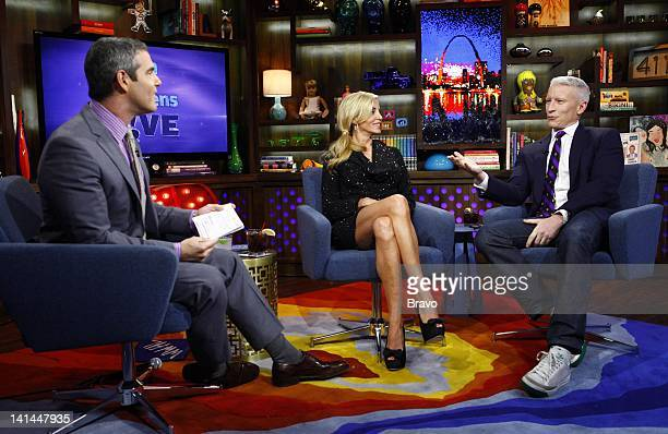Andy Cohen Camille Grammer Anderson Cooper Photo by Peter Kramer/Bravo/NBCU Photo Bank
